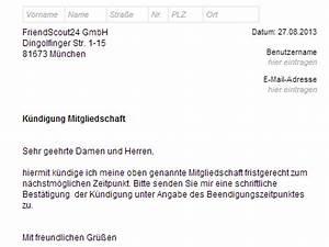 Wohnung Kündigen Email : friendscout24 k ndigen vorlage download chip ~ Orissabook.com Haus und Dekorationen