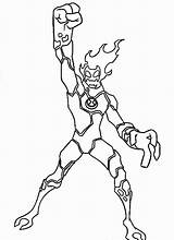 Ben Coloring Pages Ten Printable Alien Heatblast Way Colouring Sheets Omniverse Aliens Cartoon Force Drawing Ultimate Omnitrix Colour Upgrade Four sketch template
