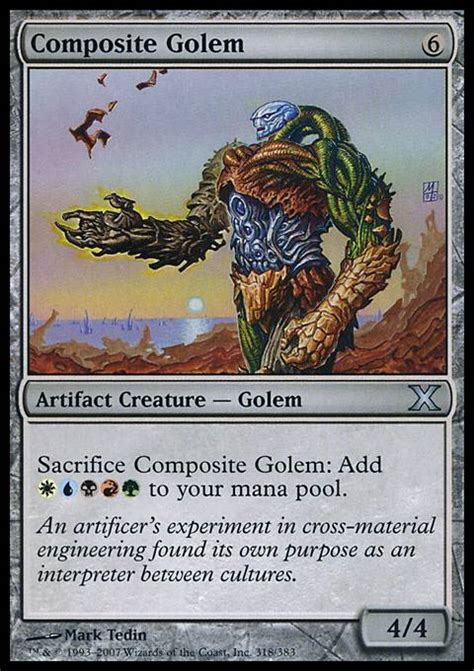 Magic The Gathering Golem Deck by Composite Golem Mtg Card