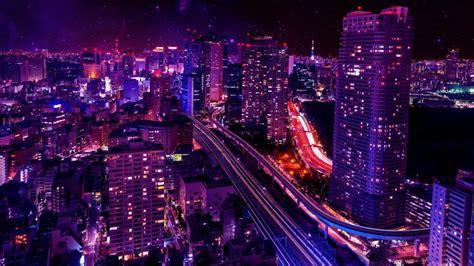 Shiodome Skyline At Night Minato, Tokyo, Japan 4k Ultrahd