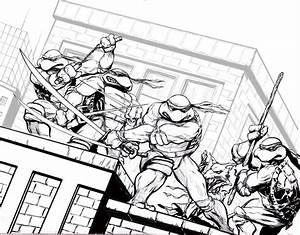 Teenage Mutant Ninja Turtle Coloring Pages Coloringsuitecom
