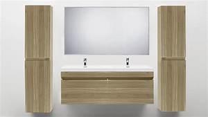 Salle De Bain Couleur Bois : meuble de salle de bain deux vasques giovanna ~ Zukunftsfamilie.com Idées de Décoration