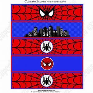 spiderman printable water bottle labels DIY