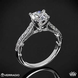 verragio bead set cathedral diamond engagement ring 1862 With verragio wedding ring sets