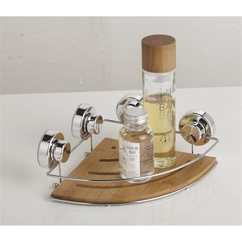 etagere salle de bain ventouse etag 232 re de bain d angle 224 ventouser naturel wellness leroy merlin