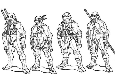 Mutant Ninja Turtles Coloring Pages Sketch Coloring Page
