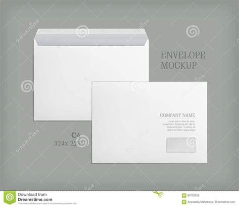 mockup open  closed envelopes stock vector