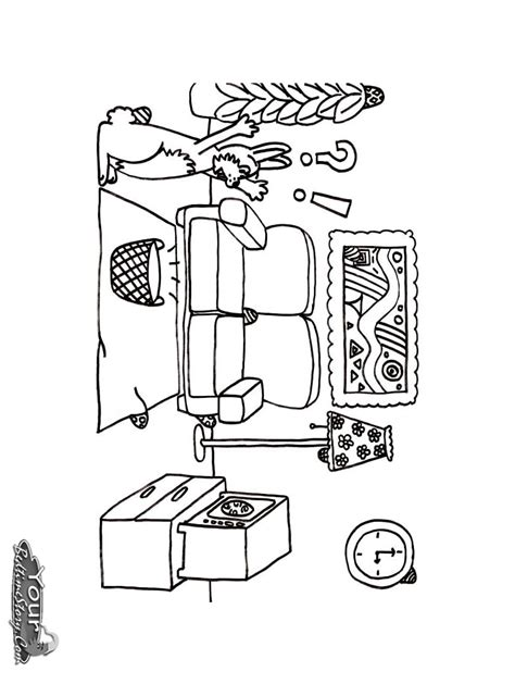 living room coloring pages and print for free