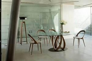 salle a manger avec table design en verre et bois et chaises With salle À manger contemporaineavec table salle a manger verre et bois design