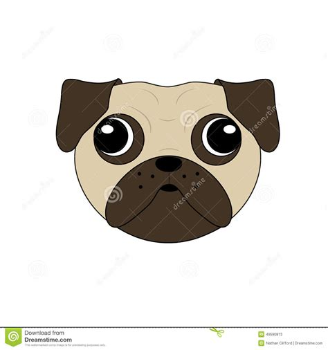 Pug Clip Pug Clipart Pug Pencil And In Color Pug Clipart Pug