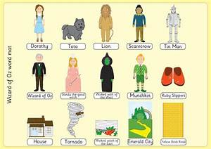 Early Learning Resources The Wizard Of Oz Image And Word Mats