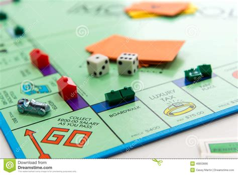 Monopoly Board Game In Play Editorial Photo Image 46853666