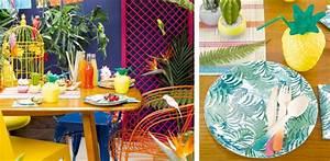 Chemin De Table Tropical : deco tropicale fete ~ Melissatoandfro.com Idées de Décoration