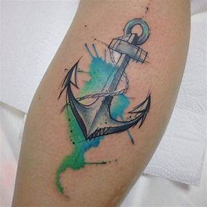 Tattoo Kompass Anker : anchor watercolor tattoo by felipe bernardes anchor colors watercolor tattoos pinterest ~ Frokenaadalensverden.com Haus und Dekorationen