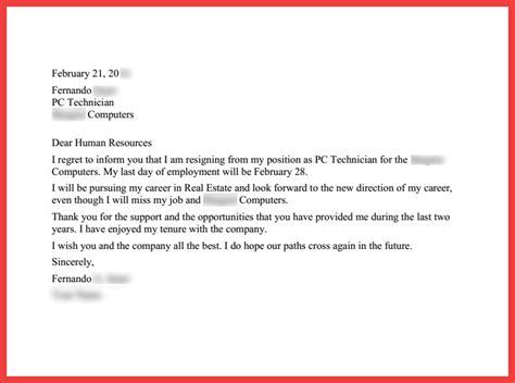 thankful resignation letter memo