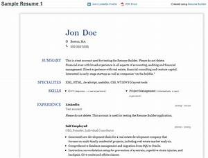 resume builder create a resume from your linkedin profile With free email resume builder