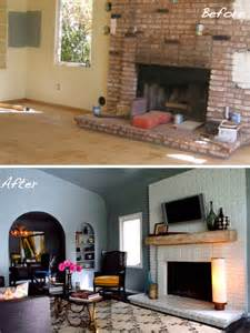 Diy Fireplace Update by Before Amp After 15 Fireplace Surrounds Made Over