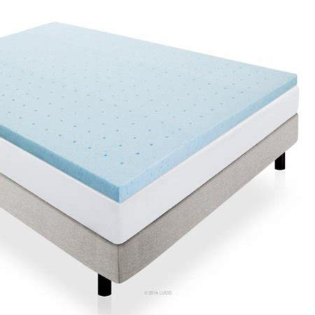 xl mattress topper lucid 2 quot gel infused ventilated memory foam mattress