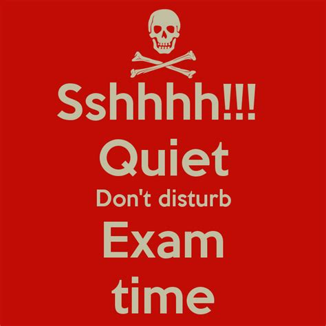 Sshhhh!!! Quiet Don't disturb Exam time - KEEP CALM AND