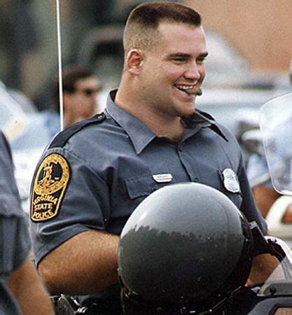 Cop chomping on a cigar, | Flat top haircut, Men in