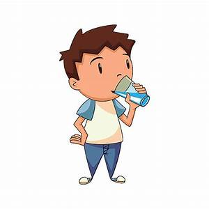 Child Drinking Water Clipart - ClipartXtras