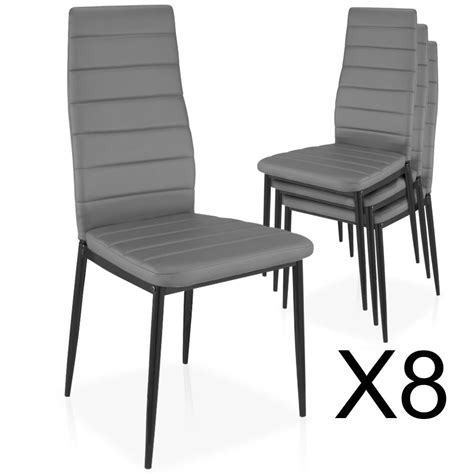 lot de 8 chaises lot de 8 chaises empilables gris chaise empilable
