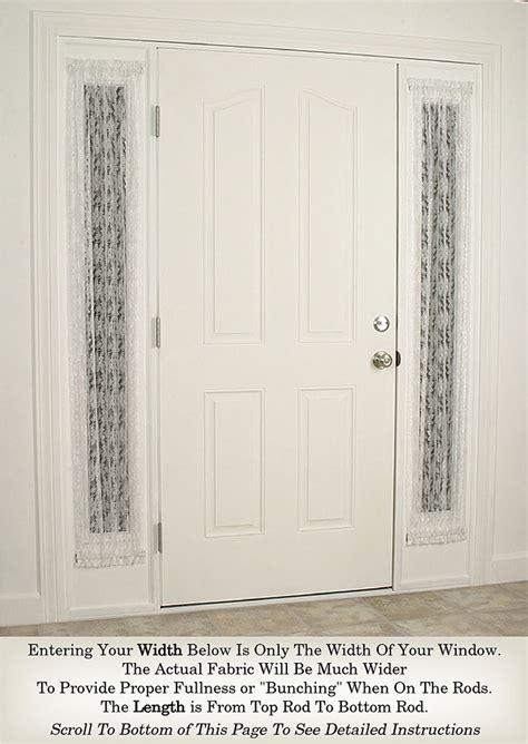 delicate lace sidelight curtain sidelight panels