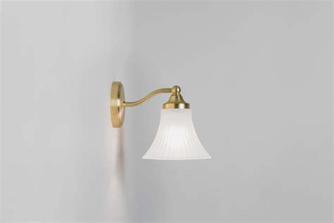 astro nena matt gold bell shaped bathroom wall light 1