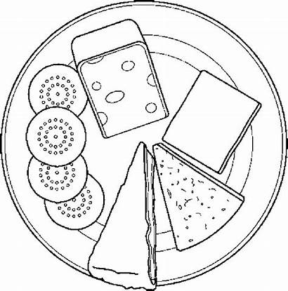Cheese Coloring Crackers Pages Dairy Mouse Getcoloringpages