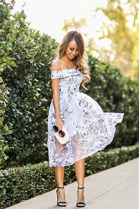 how to wear the off shoulder trend romantic summer With romantic dresses for wedding guests