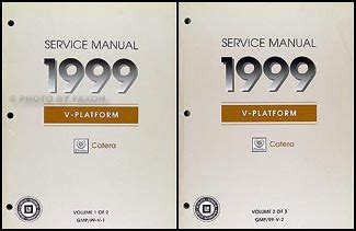 car repair manuals online free 1999 cadillac catera auto manual 1999 cadillac catera repair shop manual original 2 volume set