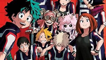 Hero Academia Background Academy Bakugou Boku Midoriya
