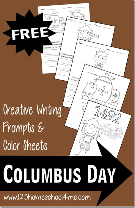 Free Printable Columbus Day Coloring Sheet And Writing Prompts
