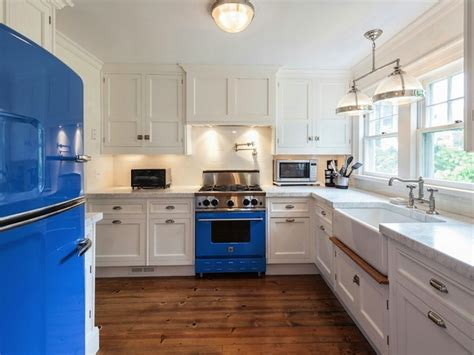 blue enamel range design ideas