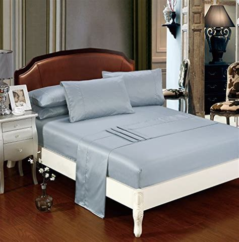 delboutree silky soft solid matte satin bed sheet sets