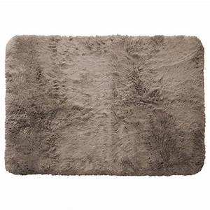 tapis poils longs 120x170cm marmotte taupe achat vente With tapis couleur taupe