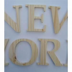 Lettre En Bois A Poser : lettres en bois 10 cm ~ Teatrodelosmanantiales.com Idées de Décoration