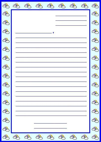 Free Letter Writing Template by Character Book Report Project Templates Worksheets