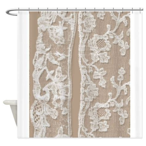 Vintage White Lace Shower Curtain By Printedlittletreasures