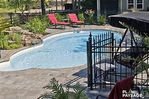 cascade et chute d39eau piscine plani paysage With piscine avec cascade d eau