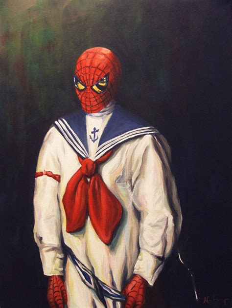 pop culture characters painted    century style