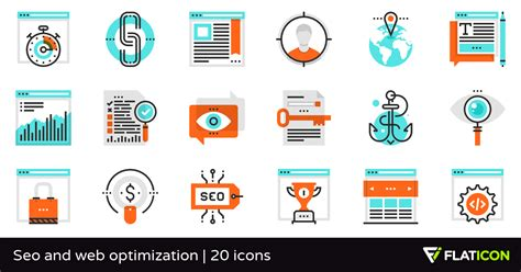seo and web optimization 20 premium icons svg eps psd