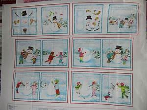 Panel#55 - Book - Children building Snowman - Christmas