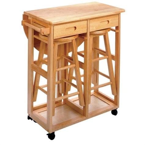 Breakfast Table With Stools by Mobile Breakfast Bar Table Set With 2 Stools In