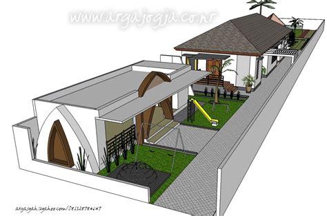 desain rumah modern minimalis tropis  lahan