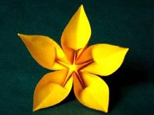 Origami Fleur Coeur D étoile Vid O Fleur Coeur D 39 Etoile