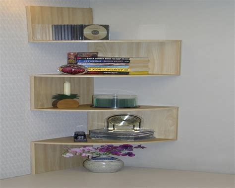 floating wall shelves decorating ideas wooden and glass corner rack furnitureteams Floating Wall Shelves Decorating Ideas