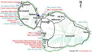 Map Maui Hotels and Resorts