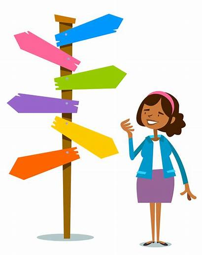 Decision Making Clipart Choice Direction Drawing Illustration