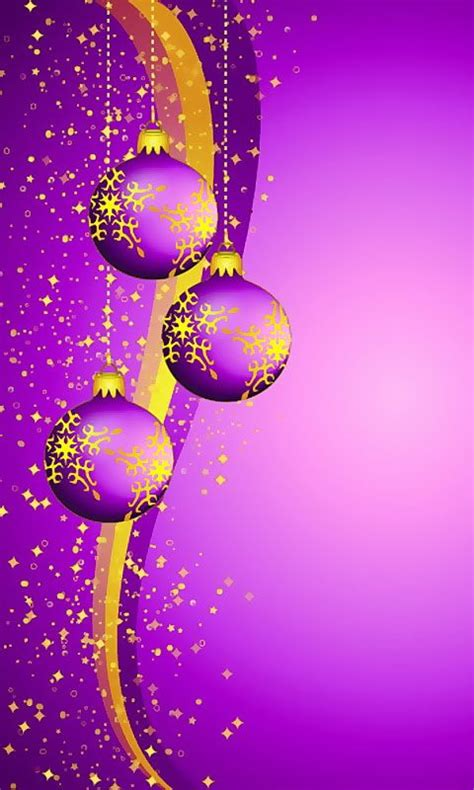 download 480x800 171 christmas purple balls 187 cell phone wallpaper category holidays clipart